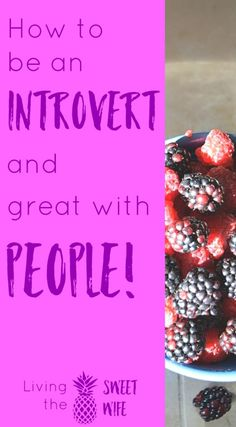 How to be an Introvert AND Great with People! - Living the Sweet Wife - good read..NEED help here. INFP all the way