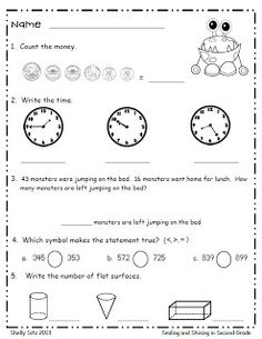 Smiling and Shining in Second Grade: Monster Math Freebie Curriculum, Homeschool Math, Homeschooling, Education Quotes For Teachers, Quotes For Students, Math Education, Education College, Second Grade Math, Grade 2