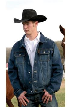 Men's Indigo Rolling Stone Cinch Denim Jacket Western Wear @Michelle McCurrach @ATB Financial #atbfashionroundup