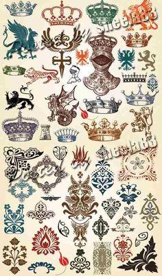 free vintage decorative elements vector