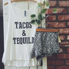 Tacos and tequila tank  on Poshmark