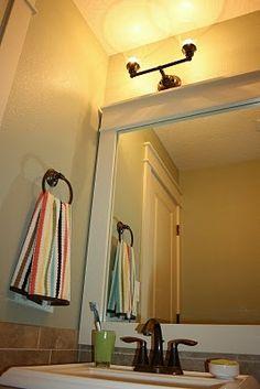 DIY Framing A Bathroom Mirror Isabella & Max Rooms