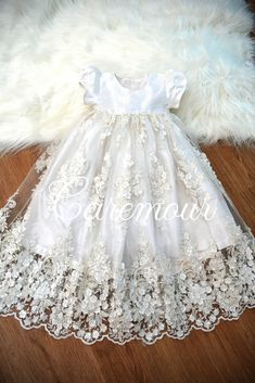2fa2fa95d Baby girl christening dress