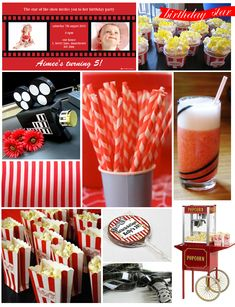 cinema themed party - Cute movie might ideas!
