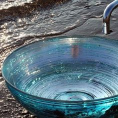 Blue glass sink for my dream bathroom