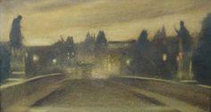 Charles Bridge at night - Jakub Schikaneder (1855-1924)