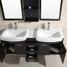Virtu USA Ophelia 59-inch Single Sink Bathroom Vanity Set - Overstock™ Shopping - Great Deals on VIRTU Bathroom Vanities