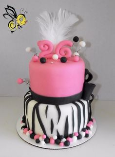 Girly Birthday Cake!!!!!!!!!!!!!!!!!!!!!!!!!!!!!!! I want this cake for my Birthday!!!!!!! My sister would also like this cake!!!!!!!!!!!!!!!!!!!!!!!! I love this cake!!!!!:) <3