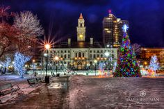 Christmas in Worcester Common, Worcester, Massachusetts - HDR | Flickr