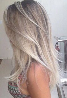 Silver and blonde hair