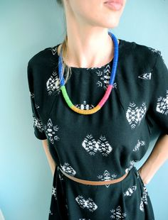 Button-rope necklaces: royal blue by NOUSH on Etsy: $30,-