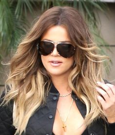 e438dae976 Khloe Kardashian and Kendall Jenner at the Rick Ross concert Pt 2 Ombre  Hair Color