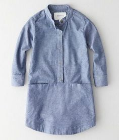 | Steven Alan Mono Lake Dress is a snap front, chambray shirtdress in a relaxed cut |