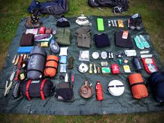 camping essentials. Oh, to be this organized.