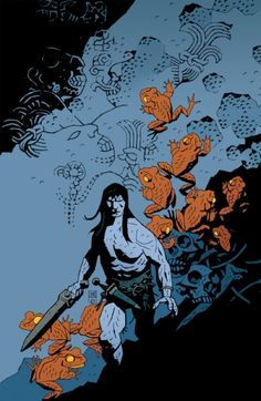 out of my head...: Comic Awesomeness Conan Covers... Mike Mignola