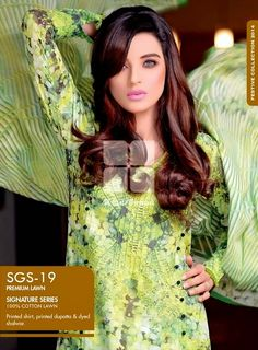 Gul Ahmed Signature Series Lawn Clothes 2014 15 For Girls 2 Gul Ahmed Signature Series Lawn Clothes 2014 15 For Girls