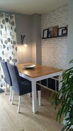 Kallax 4x1 As Dining Bench Brick Wallpaper Dining Room Ikea