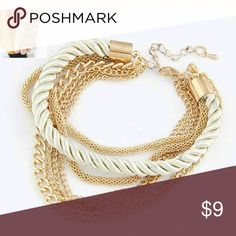 """🎉 Brand new! Multi Chain Rope Bracelet Brand new!  8"""" with extender. Comes in box.  Very elegant.  Top rated seller smoke and pet free Multiple item Discount fast shipping nice packaging. C10 Jewelry Bracelets"""