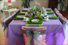 Great fairy party with grass placemats #fairy #party
