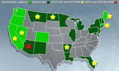 4 states voted to legalize recreational pot & 4 medical pot #DailyMail