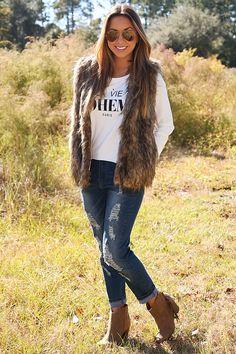 I'm Fur-Ever Yours Vest: Tan/Black #shophopes
