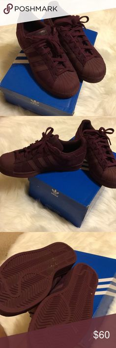 Shoes **WORN ONCE** Kids maroon adidas women size 6 kids 4.5 Shoes Sneakers
