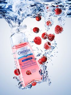 havas-1-Still Life Product Photographer Dennis Pedersen advertising editorial creative beauty cosmetics face wash scrub wash liquid water splash underwater bubbles clean fresh soap fruit raspberry clear superfruit