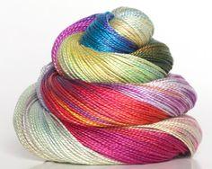 Pearl 12 Hand Dyed Pearl Cotton Rainbow by BathtubStudios on Etsy