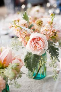 Fragrant Garden with Mason Jars and Dusty Miller... trans-influences