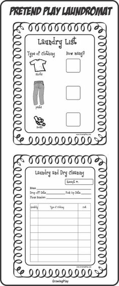 play pretend laundry - Growing Play