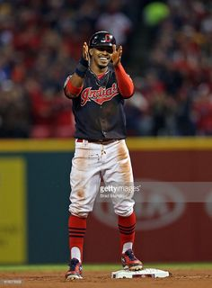 Francisco Lindor,CLE//Oct 25,2016 Game 1 World Series v CHC