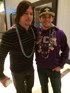 Norman and Fan boy New Orleans 2/28/14