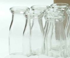 "Glass Milk Bottle | 5.5"" for $4.30 in Milk Bottles - Glassware"