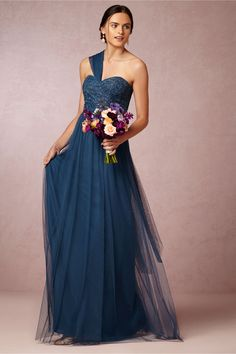 Juliette Bridesmaids Dress in lapis blue by Jenny Yoo, a BHLDN exclusive
