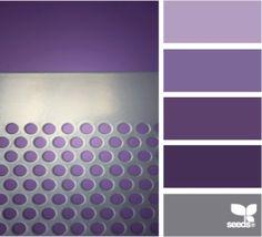 purple and silver colour palette by StarMeKitten Purple Palette, Colour Pallette, Colour Schemes, Color Combos, Color Patterns, Silver Color Palette, Design Seeds, Palette Design, Colour Board