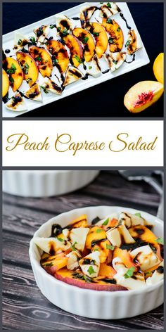 Peach Caprese Salad. Sweet and savory combine to make an incredible fall salad that everybody will love!
