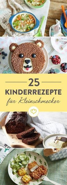 Hungry family ties: 25 recipes for young and Hungrige Familienbande: 25 Rezepte für Klein und Groß From a healthy breakfast to an uncomplicated lunch – with these 25 ideas you can get the whole family full and satisfied through the day. Lunch Boxe, Homemade Baby Foods, Lunch Snacks, Mets, Cooking With Kids, Creative Food, Baby Food Recipes, Kids Meals, Food And Drink