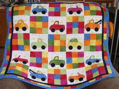 I designed this one myself, used one car pattern and made it into 4 different veichles. Fun