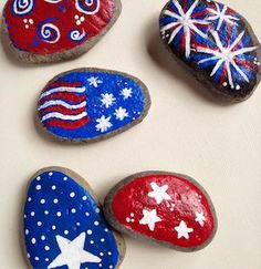 Here are the Top 9 Easy of July Crafts And Ideas for adults and kids. Get this Fourth of July Crafts to make a day enjoy full. Rock Crafts, Crafts To Make, Arts And Crafts, Kids Crafts, Stone Crafts, Kids Diy, 4th Of July Party, July 4th, Fourth Of July Crafts For Kids