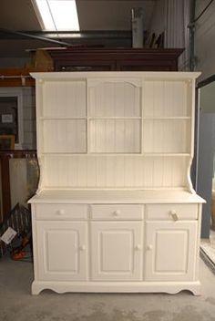 A Painted Pine Kitchen Dresser