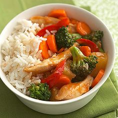 Healthy Sweet-and-Sour Stir-Fry - yum Stir Fry Recipes, Cooking Recipes, Healthy Dinner Recipes, Supper Recipes, Healthy Meals, Healthy Food, Asian Recipes, Chinese Recipes, Chinese Food