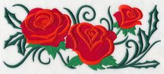A Rose is a Rose Border design (K4981) from www.Emblibrary.com