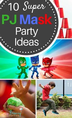 10 super PJ MASK party ideas - PJ Mask and superhero themed games and activities. #easybreezyparties #pjmask