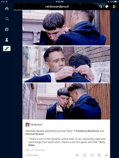 Credence Barebone and Percival Graves from Fantastic Beasts and Where to Find Them