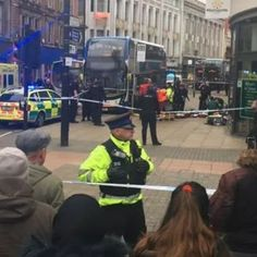 Manchester stabbing: Police seal off Piccadilly Gardens as 'people seen on ground' Morrisons, Manchester, Seal, Police, Captain Hat, Gardens, People, Outdoor Gardens, Folk