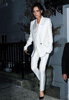 Victoria Beckham Style: White Suits Aren't OTT
