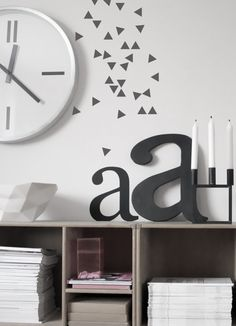Work Space in Decor Design Design Wall Tattoos, Nordic Interior Design, Workspace Design, Wooden Letters, White Letters, Scandinavian Home, Interior Walls, Beautiful Interiors, Home Decor Inspiration
