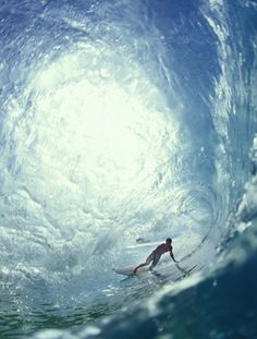 Surfing. Shoot the tunnel. Pretty cool stuff.