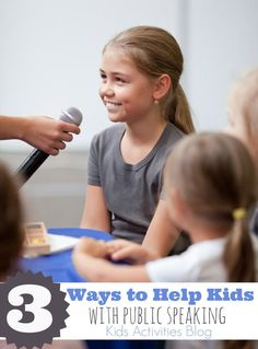 Public speaking for kids is an important life skill to develop and these public speaking activities will help then have fun as they learn to communicate.