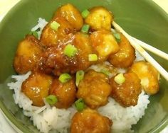 Mommy's Kitchen: Sesame Chicken Copy Cat Version use tysons popcorn chicken for fast dinner
